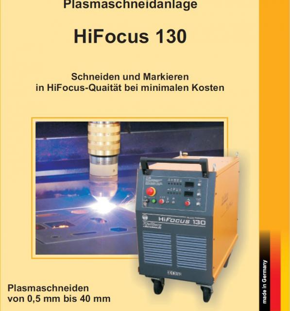 Flame cutting machines - plasmas - HiFocus 130